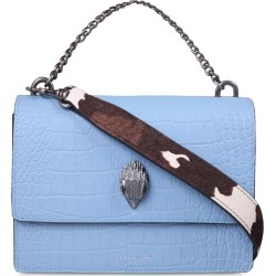 Kurt Geiger Shoreditch Croc Embossed Leather Crossbody Bag - Blue found on MODAPINS from Nordstrom for USD $285.00