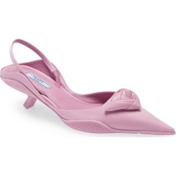 Women's Prada Pointed Toe Slingback Pump, Size 4.5US - Pink found on Bargain Bro from Nordstrom for USD $722.00