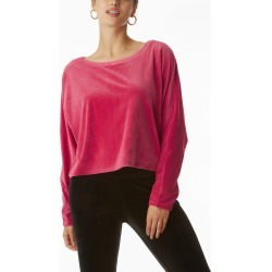 Women's Juicy Couture Stretch Velvet Dolman Sleeve Top, Size Large - Pink found on MODAPINS from Nordstrom for USD $69.00