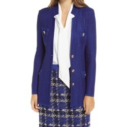 Women's Ming Wang Long Knit Jacket, Size Small - Blue found on Bargain Bro India from Nordstrom for $325.00
