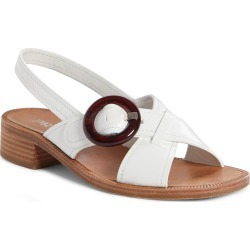 Women's Prada Buckle Slingback Sandal, Size 9US / 39EU - White found on MODAPINS from Nordstrom for USD $750.00