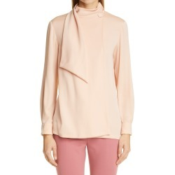 Women's Max Mara Onorata Silk Blouse, Size 6 - Beige found on MODAPINS from Nordstrom for USD $238.50