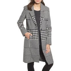 Women's Nvlt Multi Houndstooth Coat, Size X-Small - Black