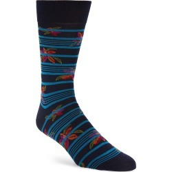 Men's Pantherella Floral Stripe Socks found on MODAPINS from Nordstrom for USD $30.00