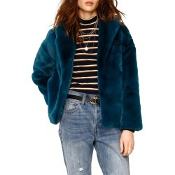 Women's Heartloom Ava Faux Fur Coat, Size Large - Blue/green found on Bargain Bro India from Nordstrom for $129.00