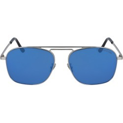 Cutler And Gross 56mm Aviator Sunglasses - Silver/ Black/ Blue Mirror found on MODAPINS from Nordstrom for USD $475.00