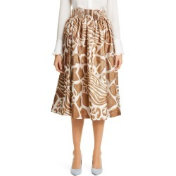 Women's Adam Lippes Animal Pattern Gathered Jacquard Skirt, Size 4 - Brown found on MODAPINS from Nordstrom for USD $639.97