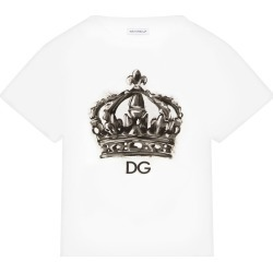 Toddler Girl's Dolce & gabbana Kids' Dg Crown Graphic Tee, Size 4T - White found on Bargain Bro from Nordstrom for USD $171.00