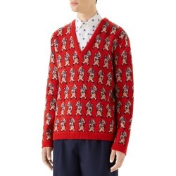 Men's Gucci Pig Wool V-Neck Sweater found on MODAPINS from Nordstrom for USD $1300.00