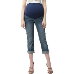Women's Kimi And Kai Jodie Crop Girlfriend Maternity Jeans found on MODAPINS from Nordstrom for USD $46.80
