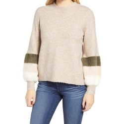 Women's Wit & Wisdom Mock Neck Sweater, Size Large - Beige (Nordstrom Exclusive) found on Bargain Bro from Nordstrom for USD $35.57