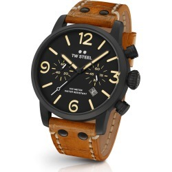 Men's Tw Steel Maverick Chronograph Leather Strap Watch, 45Mm found on Bargain Bro India from Nordstrom for $550.00