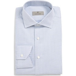 Men's Canali Regular Fit Check Dress Shirt found on MODAPINS from Nordstrom for USD $137.49