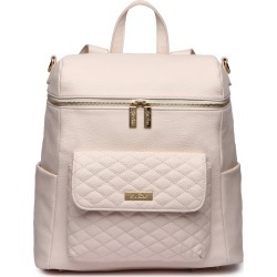 Infant Girl's Luli Bebe Monaco Faux Leather Diaper Backpack - Pink found on Bargain Bro from Nordstrom for USD $120.84