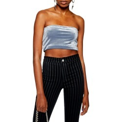 Women's Topshop Velvet Bandeau Top found on MODAPINS from Nordstrom for USD $22.00