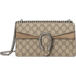 Gucci Gg Supreme Canvas & Suede Shoulder Bag - Beige found on MODAPINS from Nordstrom for USD $2290.00