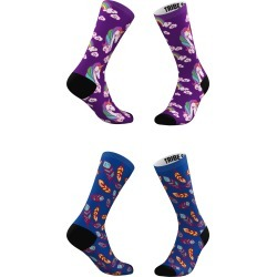 Women's Tribe Socks Assorted 2-Pack Purple Clouds & Blue Feathers Crew Socks, Size One Size - Blue found on MODAPINS from Nordstrom for USD $25.00