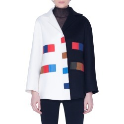 Women's Akris Colorama Bicolor Double Face Cashmere Jacket, Size 6 - Black found on Bargain Bro Philippines from Nordstrom for $5490.00