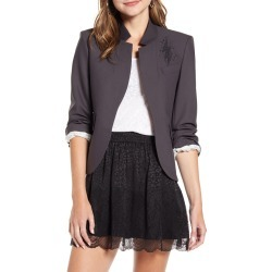 Women's Zadig & Voltaire Verys Bis Rock Jacket, Size 4 US / 36 FR - Grey found on Bargain Bro Philippines from Nordstrom for $458.00