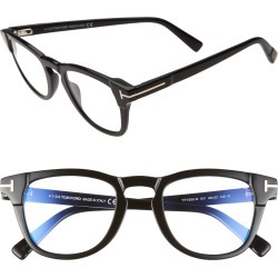 Women's Tom Ford 54mm Blue Light Blocking Optical Glasses - Black found on Bargain Bro Philippines from Nordstrom for $415.00