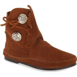 Women's Minnetonka Two-Button Hardsole Bootie, Size 5 M - Brown found on Bargain Bro from Nordstrom for USD $40.24