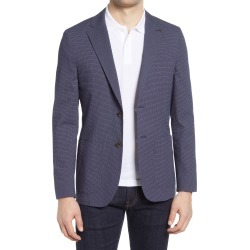 Men's Ted Baker London Cactus Slim Fit Check Stretch Cotton Blend Sport Coat, Size 7 - Blue found on Bargain Bro from Nordstrom for USD $300.20