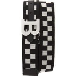 Men's Bally B-Buckle Reversible Webbed Belt, Size 34 - Black/ Bone found on MODAPINS from Nordstrom for USD $275.00