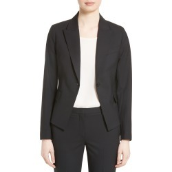 Women's Theory Brince B Good Wool Suit Jacket, Size 14 - Black (Nordstrom Exclusive) found on Bargain Bro India from Nordstrom for $435.00