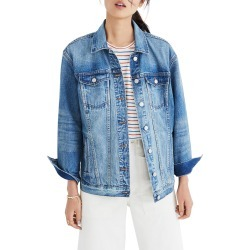 Women's Madewell Oversize Denim Jacket, Size XX-Small - Blue found on Bargain Bro India from Nordstrom for $96.00
