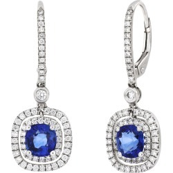 Women's Bony Levy Sapphire & Diamond Square Drop Earrings found on Bargain Bro Philippines from Nordstrom for $6595.90