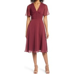 Women's Chi Chi London Jaslene Fit & Flare Dress, Size 6 - Burgundy found on MODAPINS from Nordstrom for USD $105.00