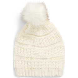 Women's Treasure & Bond Faux Fur Pom Beanie - Ivory found on Bargain Bro India from Nordstrom for $17.40