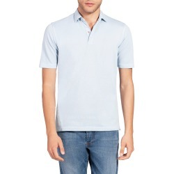 Men's Isaia Short Sleeve Jersey Polo, Size Medium - Blue found on MODAPINS from LinkShare USA for USD $258.00