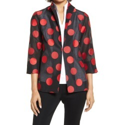 Women's Ming Wang Polka Dot Jacket, Size Large - Black found on Bargain Bro from Nordstrom for USD $186.20