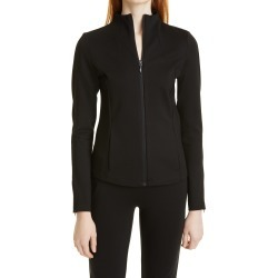 Women's Donna Karan New York Fitted Funnel Neck Jacket, Size Small - Black found on Bargain Bro India from Nordstrom for $275.00