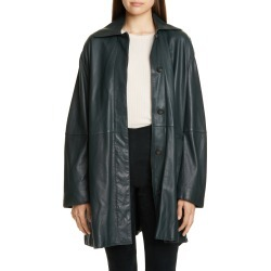 Women's Vince Leather Trench Coat, Size 10 - Green found on Bargain Bro Philippines from Nordstrom for $1495.00