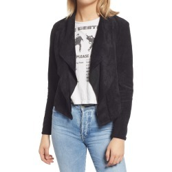 Women's Blanknyc Drape Front Faux Suede Jacket, Size X-Small - Black found on Bargain Bro from Nordstrom for USD $74.48