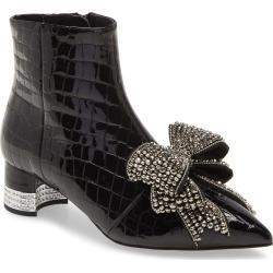 Women's Jeffrey Campbell Luci Embellished Bow Bootie, Size 7 M - Black found on MODAPINS from Nordstrom for USD $244.95
