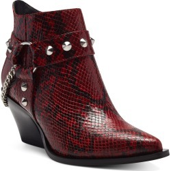 Women's Jessica Simpson Zayrie Studded Moto Bootie, Size 9 M - Red found on Bargain Bro India from LinkShare USA for $138.95
