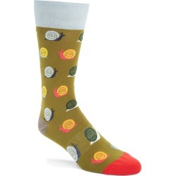 Men's Fun Socks Snail Socks, Size One Size - Green found on MODAPINS from Nordstrom for USD $12.00