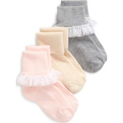 Toddler Girl's Tucker + Tate Kids' Assorted 3-Pack Ruffle Socks, Size 4.5-8.5 - None found on Bargain Bro Philippines from Nordstrom for $12.00