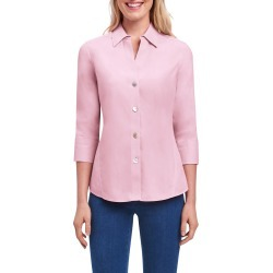 Women's Foxcroft Paityn Non-Iron Cotton Shirt, Size 6 - Pink found on Bargain Bro from Nordstrom for USD $60.04