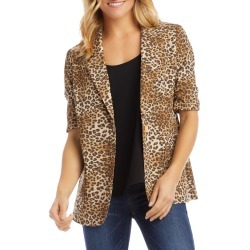 Women's Karen Kane Leopard Print Ruched Sleeve Jacket found on Bargain Bro India from LinkShare USA for $79.40