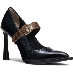 Women's Fendi Logo Strap Pointy Toe Pump, Size 5US / 35.5EU - Black found on Bargain Bro Philippines from Nordstrom for $950.00