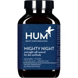 Hum Nutrition Mighty Night Overnight Renewal Dietary Supplement