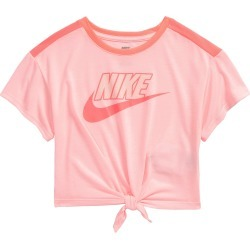 Toddler Girl's Nike Kids' Knot Hem Boxy Logo Graphic Tee, Size 4T - Pink found on Bargain Bro from Nordstrom for USD $18.24