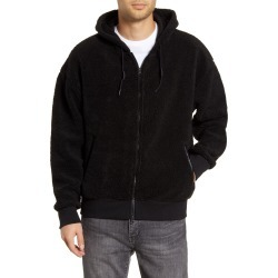 Men's Nike Faux Shearling Hoodie, Size Small - Black