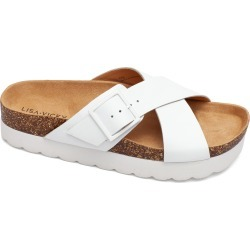 Women's Lisa Vicky Benefit Slide Sandal, Size 10 M - White found on MODAPINS from Nordstrom for USD $79.95