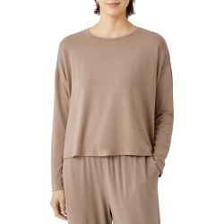 Women's Eileen Fisher Crewneck Top, Size XX-Small - Brown found on Bargain Bro Philippines from Nordstrom for $138.00