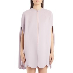 Women's Valentino Scallop Hem Compact Wool & Cashmere Cape, Size 8 US - Purple found on Bargain Bro Philippines from LinkShare USA for $1975.00